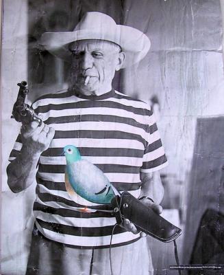 Kunstgalerie von Marcel Schlesinger  P Picasso mit Friedenstaube