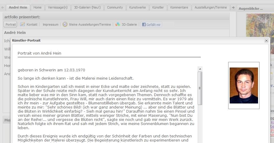 3d Kunstgalerie Künstler Homepage Bzw Webseite Kostenlos Und